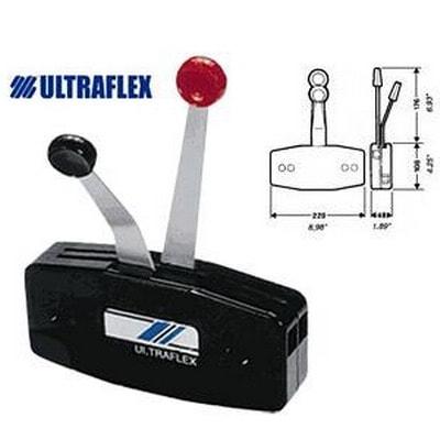 Контроллер управления газом/реверсом B49 с раздельным управлением в черном корпусе, 33283S