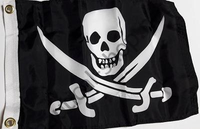 """Флаг пиратов """"Веселый Роджер"""" 30х45 см, Taylor Made, 1814"""