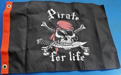 """Флаг """"Пират по жизни"""" 30х45 см, Т1800"""