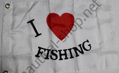 "Флаг ""I LOVE BOATING"" 30х45 см, 3718"