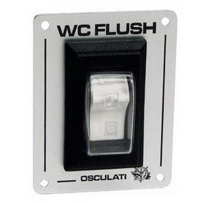 Выключатель клавишный для электрических унитазов WC FLUSH, 50.207.09