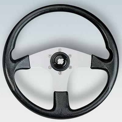 Полиуретановый руль CORSICA B/S Ø 350 мм, черный/серебристый, 38333O