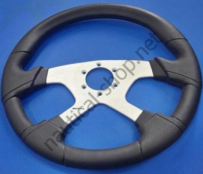 Полиуретановый руль LAVEZZI B/S ? 350 мм, черный/серебристый, 65295R