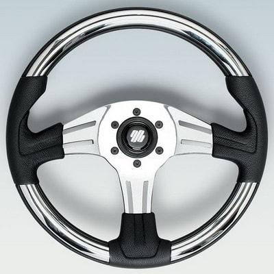 Полиуретановый руль VIVARA CH/P Ø 350 мм, черный/серебристый, 64643G