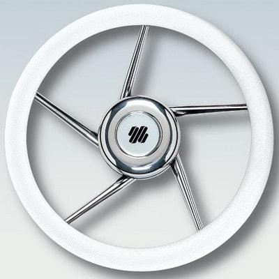 Руль нержавеющий V01W Ø 350 мм, белый, 41688B