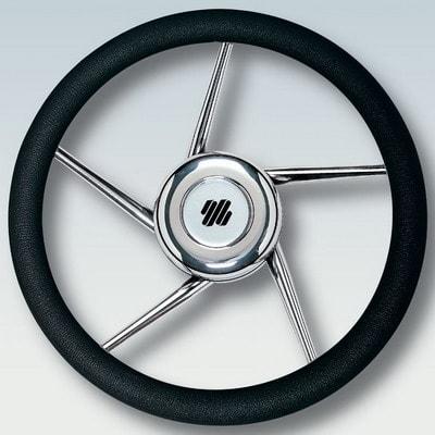 Руль нержавеющий V01B Ø 350 мм, черный, 41687Z