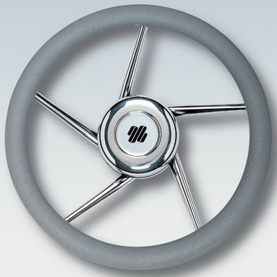 Руль нержавеющий V01G Ø 350 мм, серый, 41689D