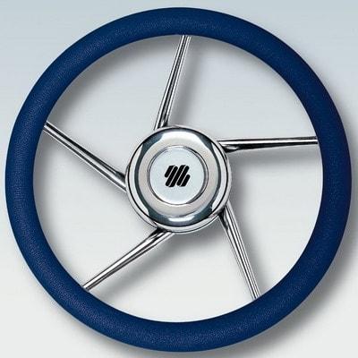 Руль нержавеющий V01NB Ø 350 мм, синий, 41690M