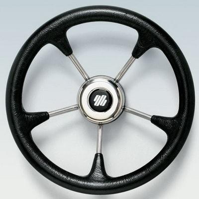 Руль нержавеющий V52B Ø 320 мм, черный, 40631P