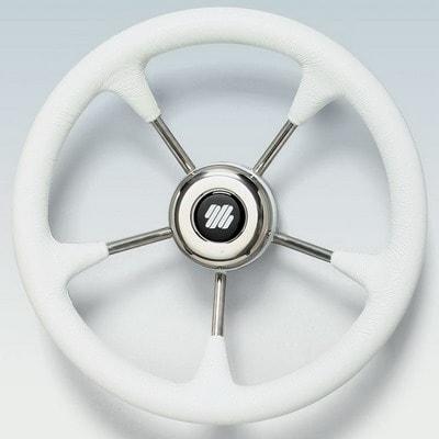 Руль нержавеющий V52W Ø 320 мм, белый, 40633U