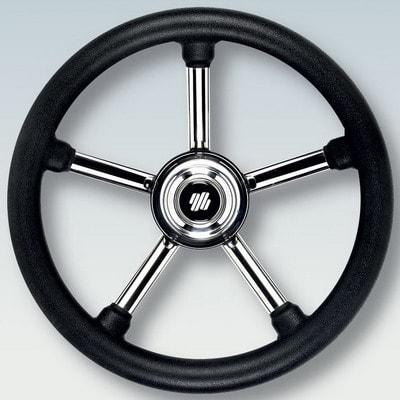 Руль нержавеющий V24B Ø 350 мм, черный, 42345Z