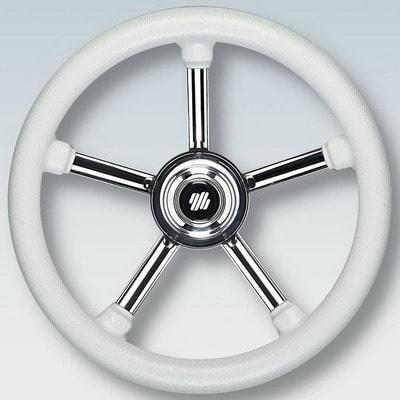 Руль нержавеющий V24W Ø 350 мм, белый, 42347D