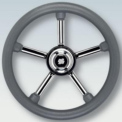 Руль нержавеющий V24G Ø 350 мм, серый, 42346B