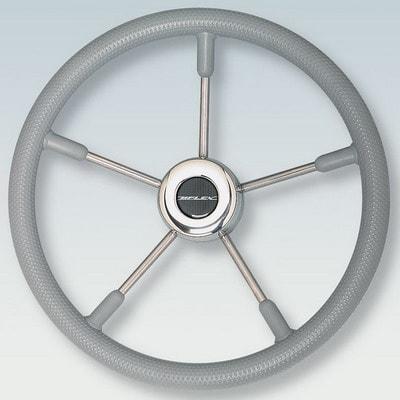 Руль нержавеющий V58G Ø 400 мм, серый, 38650F
