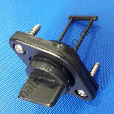 Пробка дренажная врезная из черного термопластика диаметром 20 мм, 17209-1
