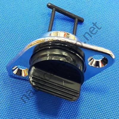 Пробка дренажная врезная хромированная диаметр 18 мм, 18.538.00