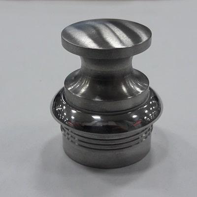 Ручка с накладкой круглая из нержавеющей стали для пружинной защелки 30 мм, 38.182.68