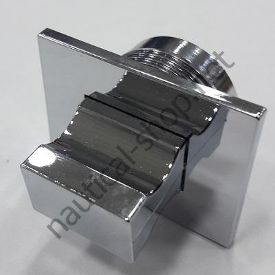 Ручка с накладкой прямоугольная из АБС пластика для пружинной защелки 30х40 мм, 38.182.80