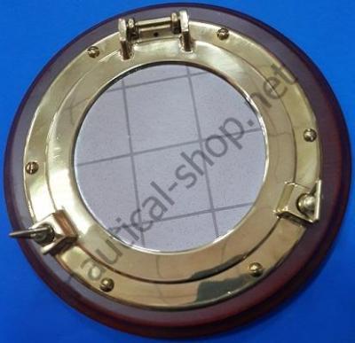 Зеркало в виде иллюминатора на деревянной основе, 2089S.L
