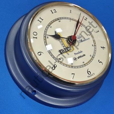 Часы кварцевые в латунном корпусе покрытым синей эмалью диаметр 125 мм, 2518.BLU