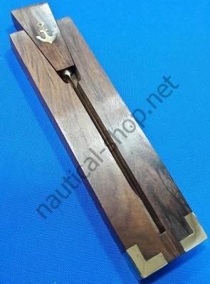 Нож латунный для открывания писем в деревянном чехле, COUT010