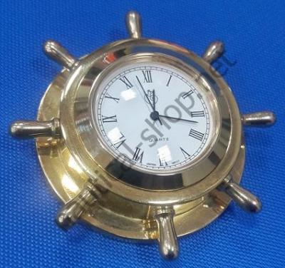 Часы латунные в форме штурвала, HORL048
