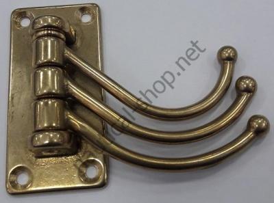 Вешалка латунная на три крючка, 205A.L
