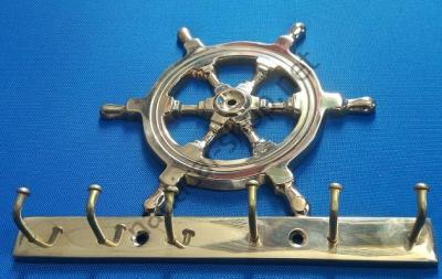 Ключница латунная в виде штурвала, DECO185
