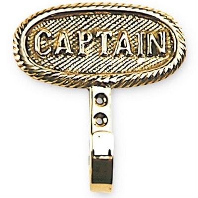 Вешалка латунная с надписью CAPTAIN, QUIN086