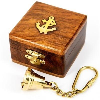 """Брелок латунный в деревянной коробочке """"РЫНДА"""", 013.L.A"""
