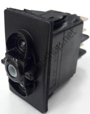 Водонепроницаемый выключатель CARLING SWITCH трехпозиционный с пружинным возвратом (ВКЛ)-ВЫКЛ-(ВКЛ), 14.192.03