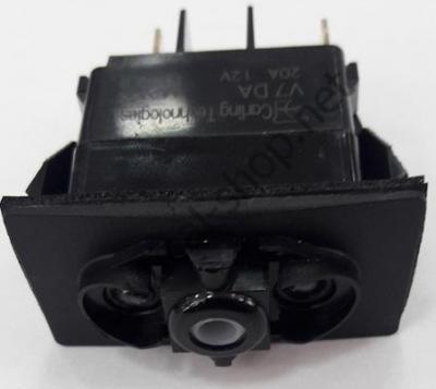 Водонепроницаемый выключатель CARLING SWITCH трехпозиционный ВКЛ-ВЫКЛ-ВКЛ, вид сбоку, 14.192.04