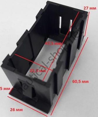Монтажная рамка для выключателей, промежуточная CarlingSwitch, размеры, 14.197.01