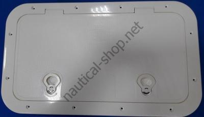 Инспекционный люк белый 595х345 мм, 12797-1