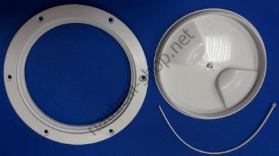 Инспекционный люк-лючок белого цвета для лодки, 205 мм, просвет 152 мм, 20.205.00