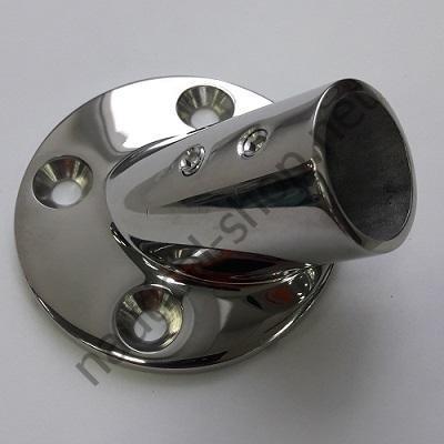 Основание для рейлинга 25 мм, круглое крепление, угол 45°, 41.127.01