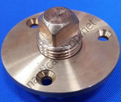 Пробка врезная дренажная, бронзовая: диаметр 13 мм, 7555-1