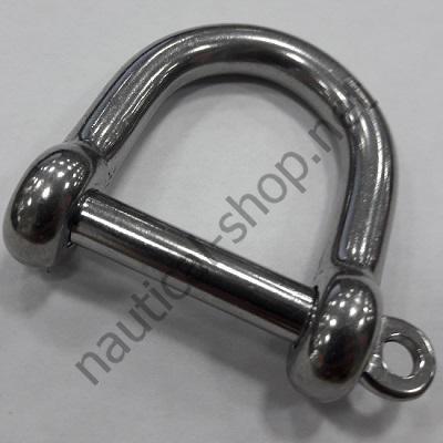 Такелажная скоба широкого типа 10 мм, нержавеющая сталь, 08.325.10