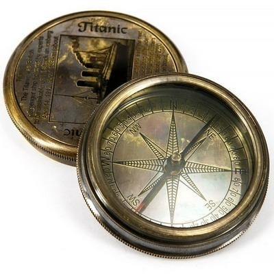 Компас карманный морской в античном стиле TITANIC, 7224