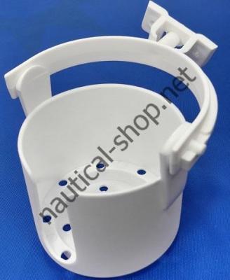 Подстаканник пластиковый на карданном подвесе, белый, 11631-4