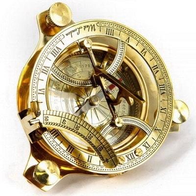 Часы солнечные латунные, NI234