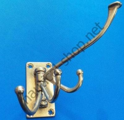Вешалка латунная на четыре крючка, 151B.L