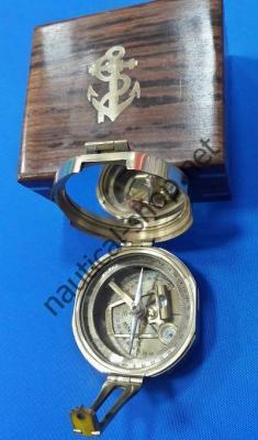 Компас морской в деревянном футляре, BOUS001B