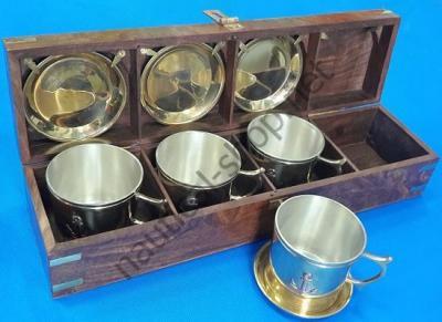Кофейный набор из полированной латуни, BOIT053