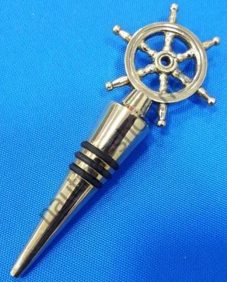 Латунная пробка для бутылок со штурвалом, ACTA024