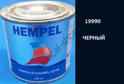 Краска алкидная Hempalin Enamel черный (0,2 л), 19900