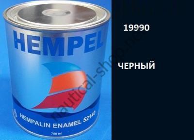 Краска алкидная Hempalin Enamel черный (0,75 л), 19900