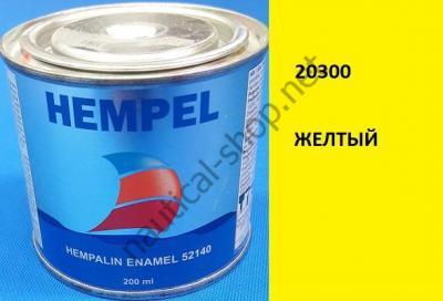 Краска алкидная Hempalin Enamel желтый (0,2 л), 20300