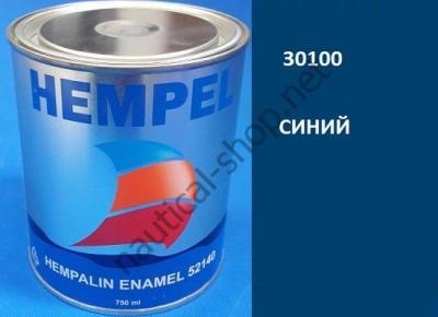 Краска алкидная Hempalin Enamel синий (0,75 л), 30100