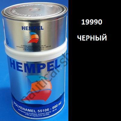 Краска полиуретановая двухкомпонентная POLY ENAMEL черный (0,75 л), 19900 Hempel